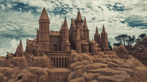 Sand castle - Sand art wallpaper