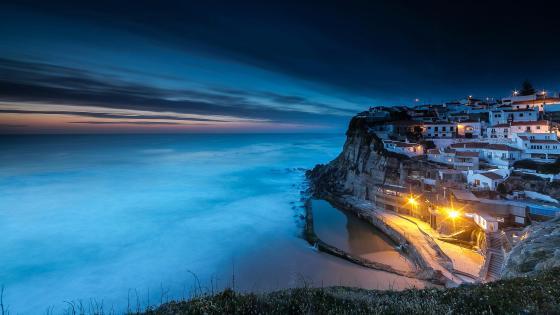 Coastline of Azenhas do Mar - Colares, Portugal wallpaper