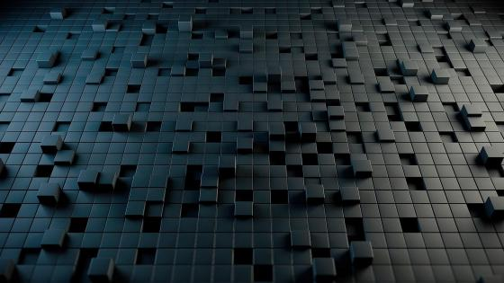 Black cubes wallpaper