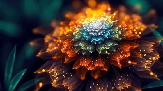 Flower fantasy art wallpaper