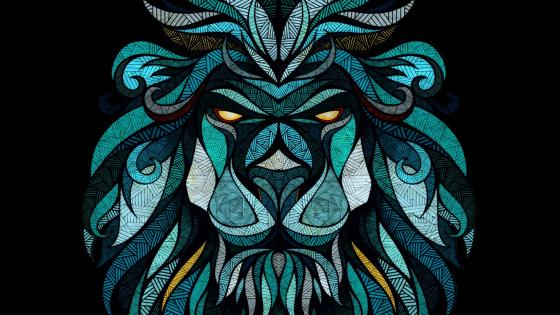 Abstract lion head wallpaper