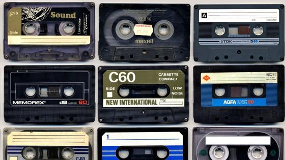 Vintage cassettes wallpaper