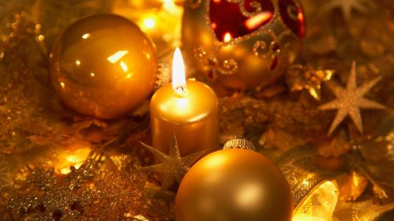 Christmas candle light wallpaper