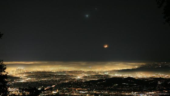Venus and Jupiter appear in night sky wallpaper