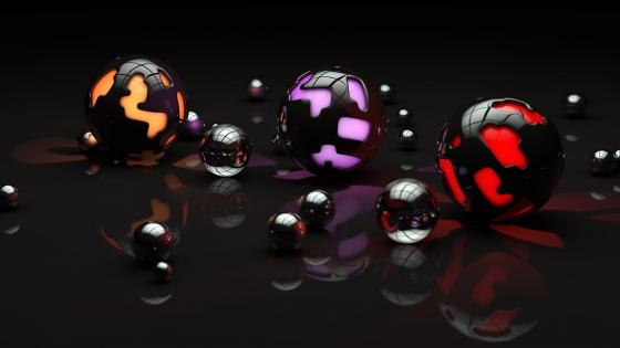 3D sphere computer graphics wallpaper