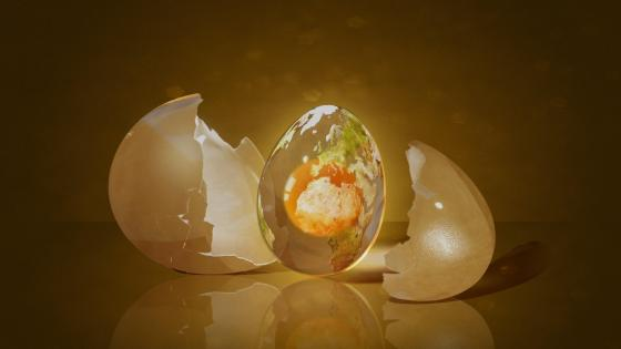 3D egg - Digital art wallpaper