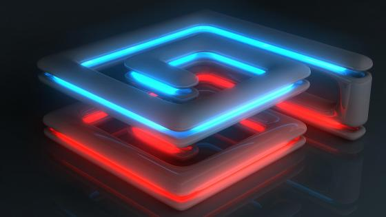 3D neon lights wallpaper