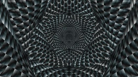 Black and white optical illusion wallpaper