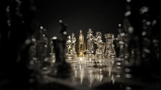 Silver Chess wallpaper