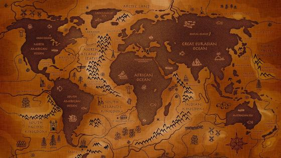 Old world map - Fantasy art wallpaper