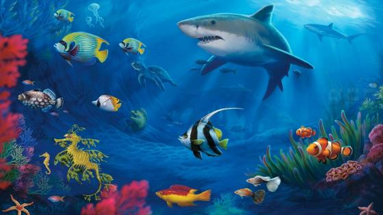 Underwater life wallpaper