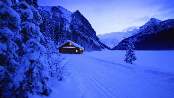 Frozen Lake Louise - Banff National Park, Alberta, Canada wallpaper
