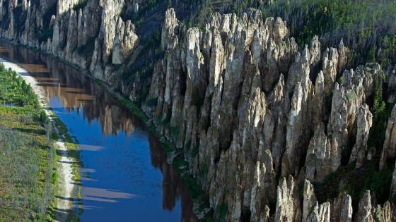 Lena Pillars Nature Park - Yakutia, Russia wallpaper