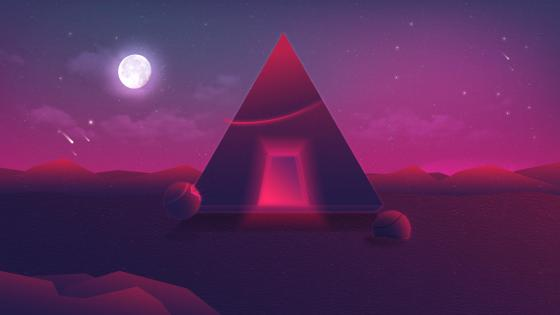 Retrowave graphic wallpaper