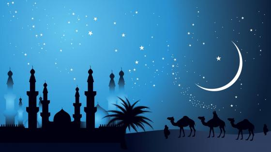 Silhouette arabia wallpaper