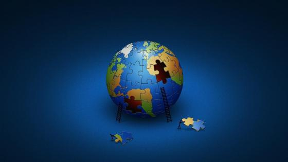 Earth puzzle graphics wallpaper