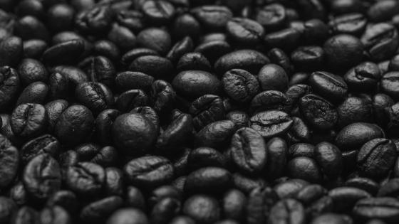 Black coffee grounds wallpaper