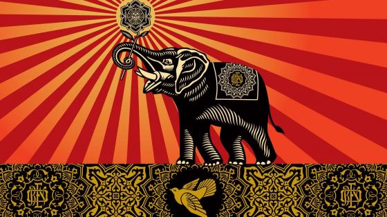 Elephant art wallpaper