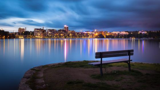Tampere after sunset - Finland wallpaper