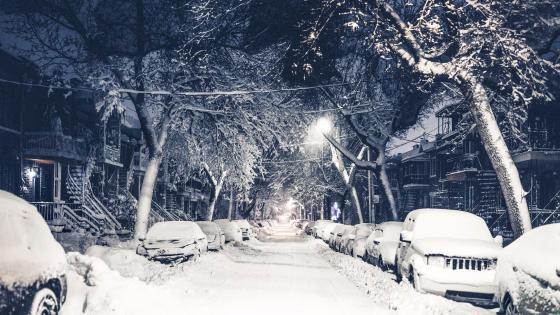 Snow in New York wallpaper