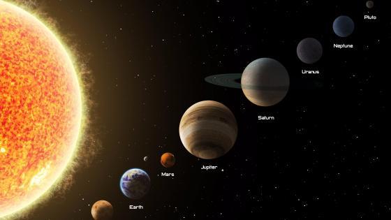 Solar system wallpaper