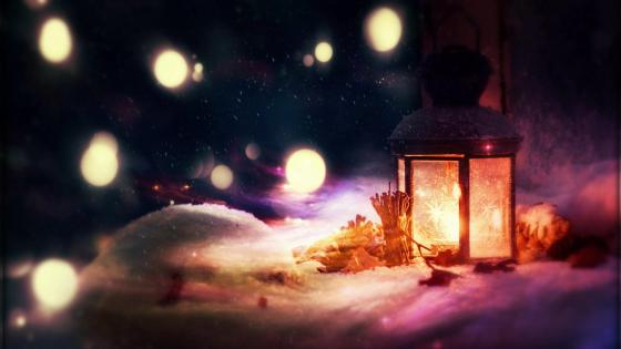 Christmas candlelight wallpaper