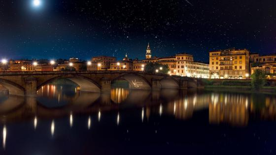 Blue hour in Florence wallpaper