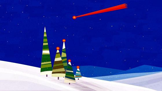 Christmas shooting star wallpaper