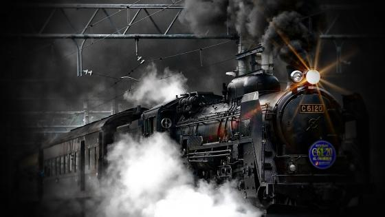 Old steam locomotive wallpaper