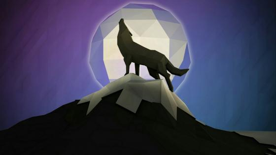 Low poly wolf art wallpaper