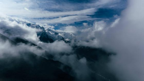 Above the clouds - Aerial photography wallpaper