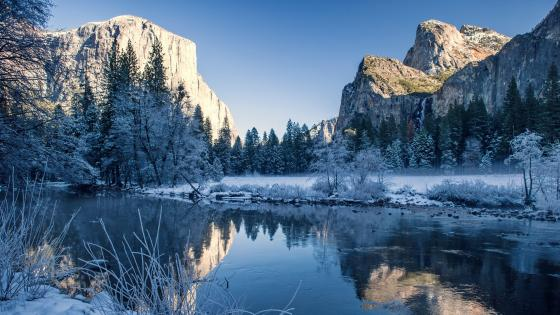 Yosemite Valley in winter - Yosemite National Park wallpaper