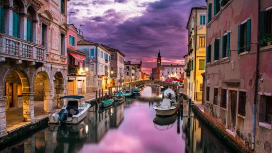 Canal Vena - Chioggia, Venice, Italy wallpaper