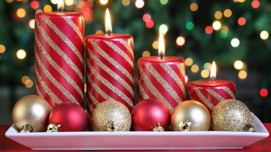 Christmas Advent candles wallpaper