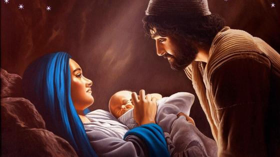 The Holy Family wallpaper