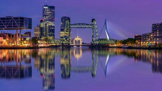 Rotterdam at dusk wallpaper