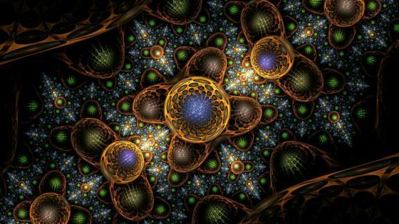 Cappuccino fractal art wallpaper