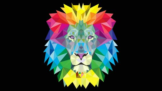 Colofrul lion head wallpaper