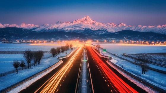 Turin - Pinerolo highway wallpaper