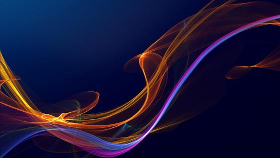 Colorful flame lines wallpaper