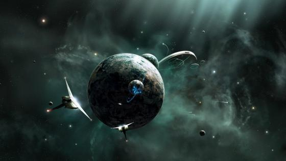 Space War - Fantasy art wallpaper