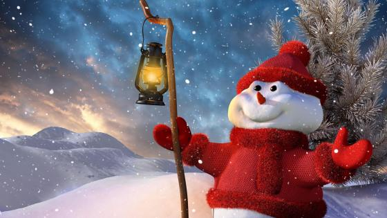 ⛄ Christmas Snowman illustration wallpaper
