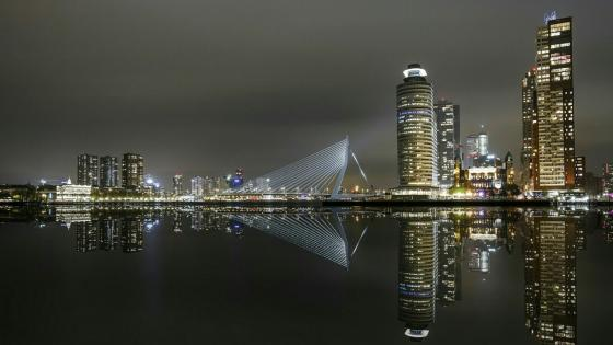 Rotterdam downtown reflection wallpaper