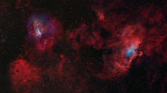 Astrofotography of nebulas wallpaper