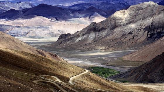 Himalaya Oasis - Tingri, Tibet wallpaper