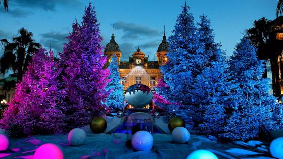 Christmas in Monte Carlo, Monaco wallpaper