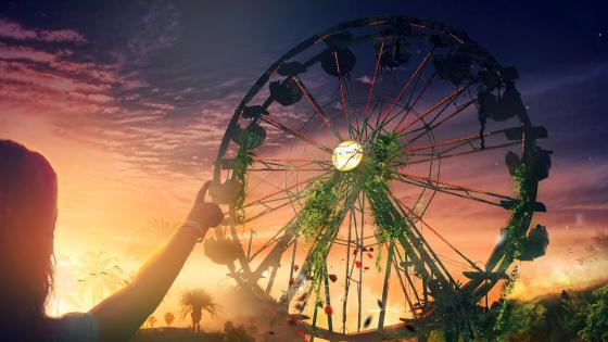 Fantasy ferris wheel wallpaper