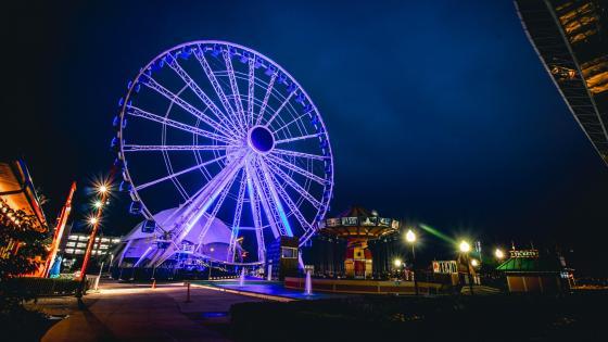 Blue Ferris Wheel wallpaper