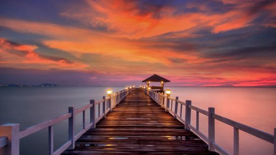 Romantic sunset wallpaper