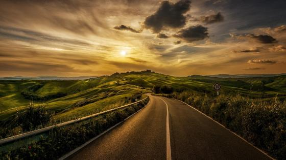 Val d'Orcia - Tuscany wallpaper